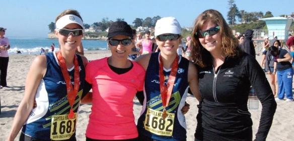 Hillary, Laura, Meg & I post-race