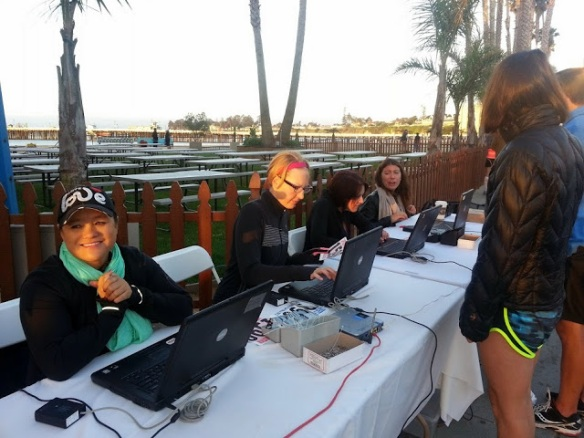 Volunteers Working at 6am Raceday (Photo cred: Paulette)