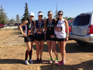 Hillary, Meg, Me, Leslie post-race