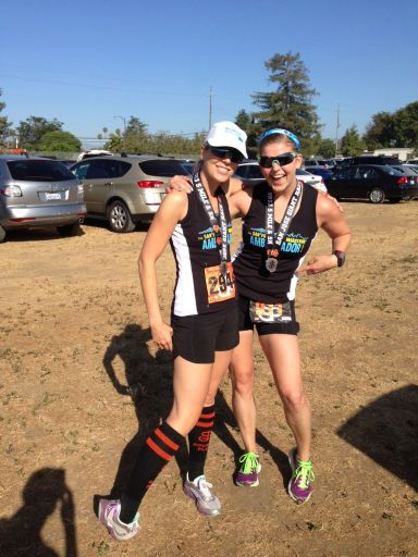 Fellow SFM Ambassador Meg & I post-race
