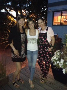 w/ Claudia & Laura at the BBQ