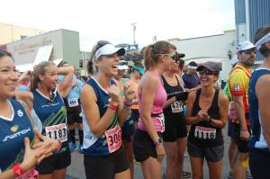 Happiness at the start line