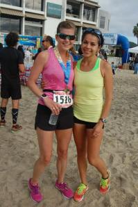 Post-race bliss w/ Jenn